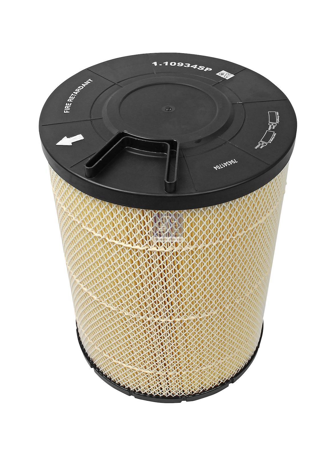 Air filter, flame retardant