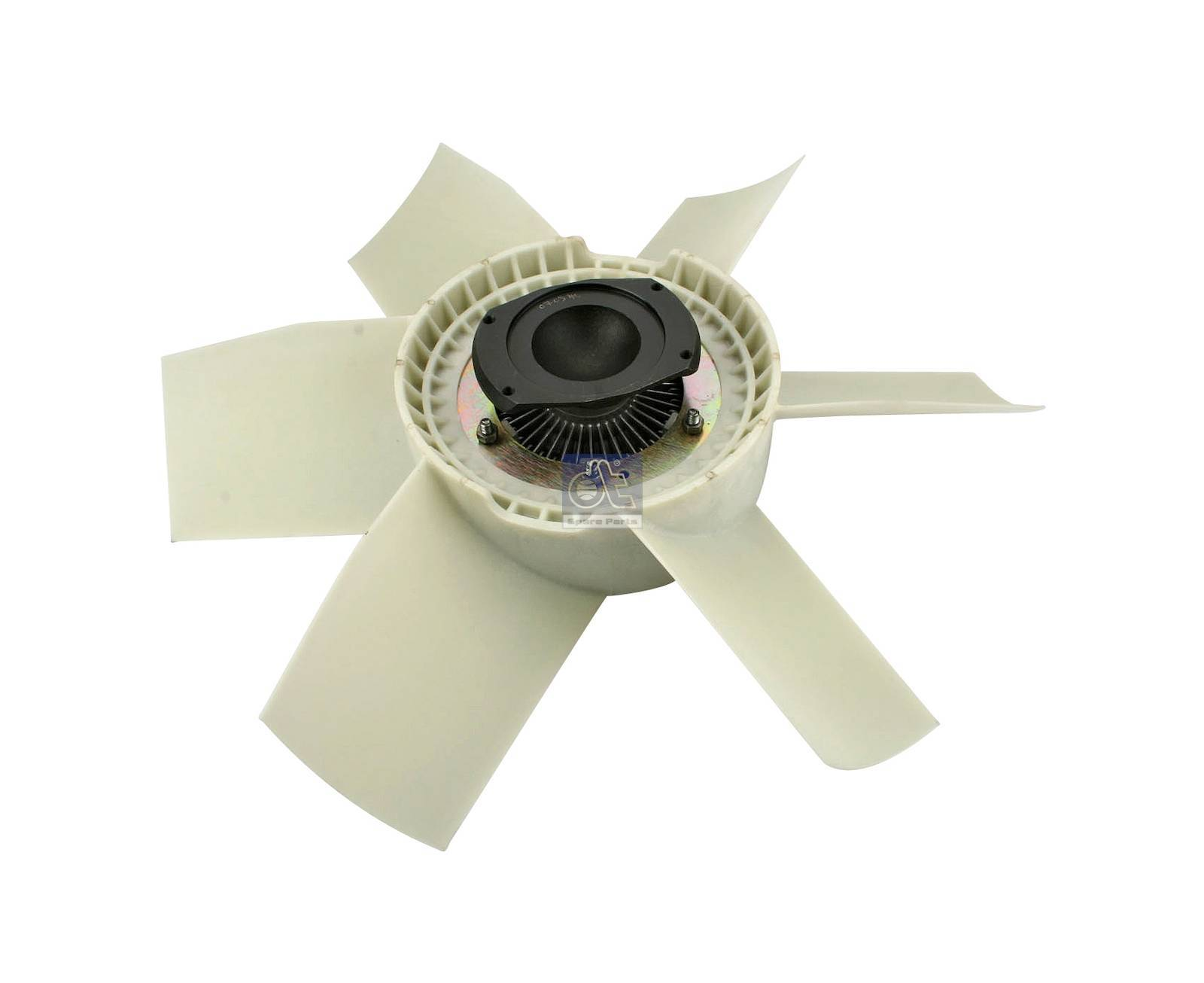 Fan with clutch, plastic version