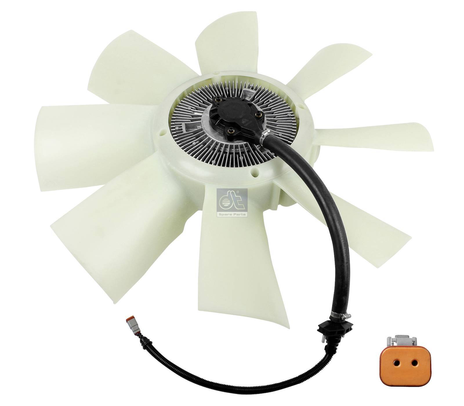 Fan with clutch, electrical