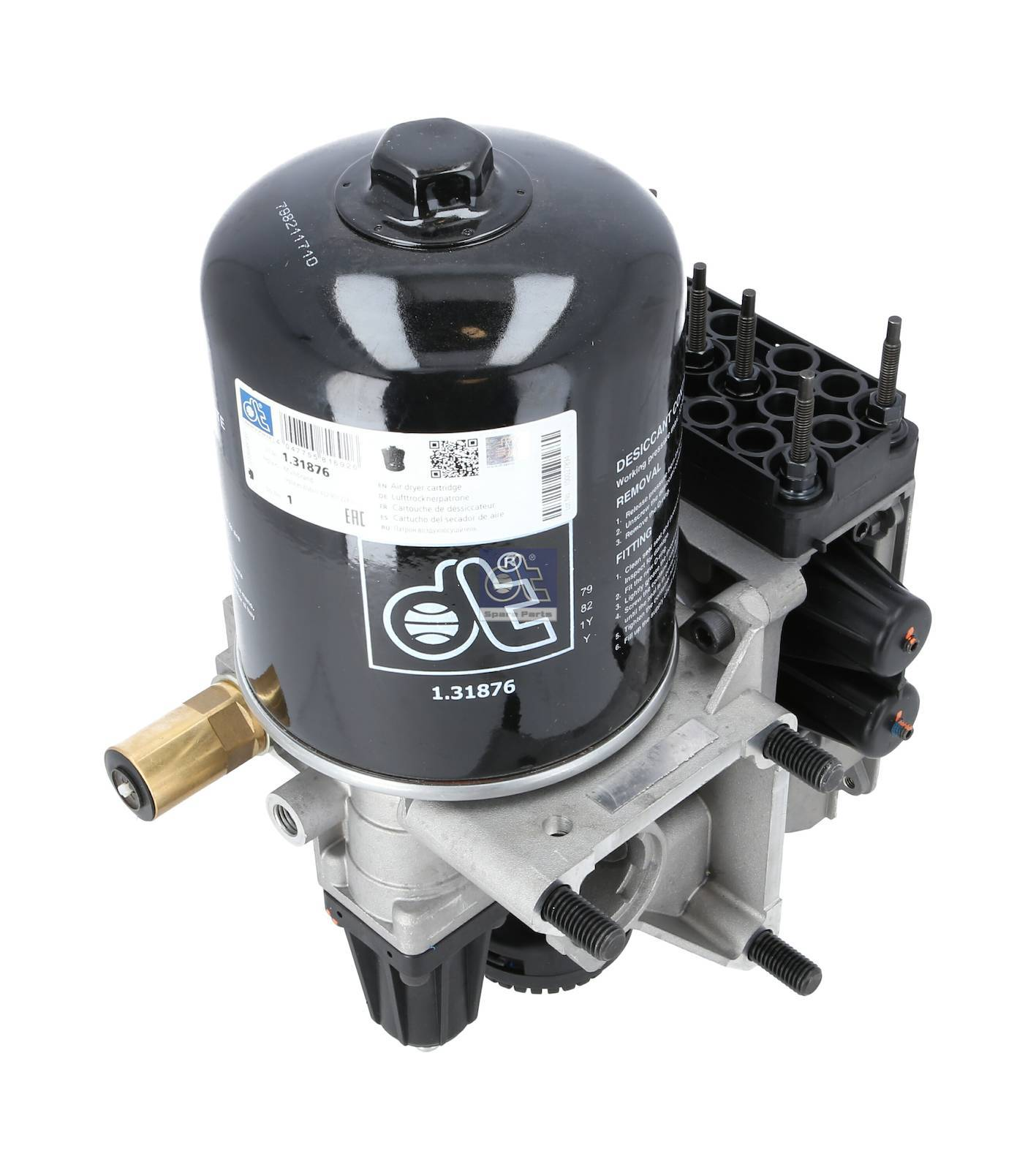 Air dryer, complete with valve, without control unit