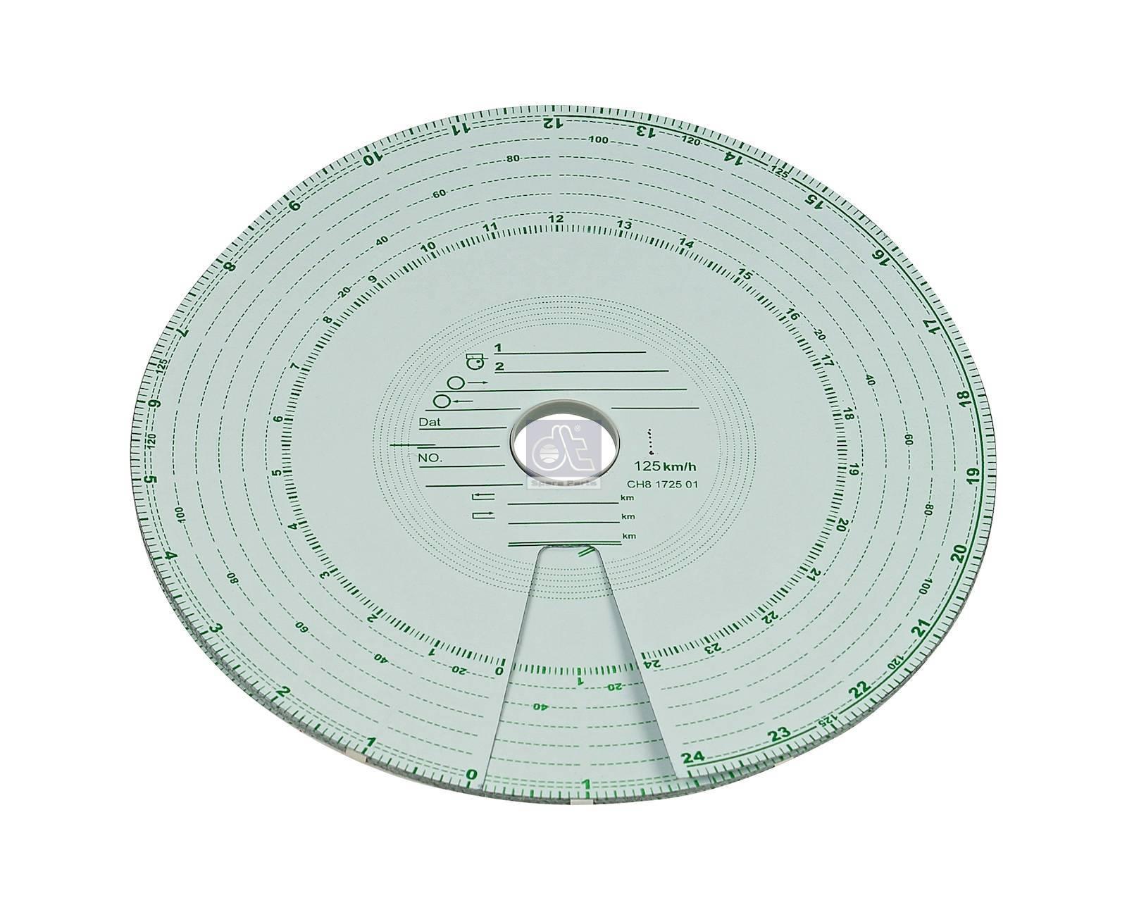 Tachograph disc set