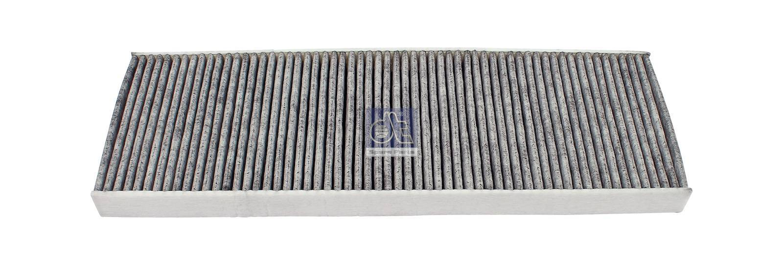 Cabin air filter, activated carbon