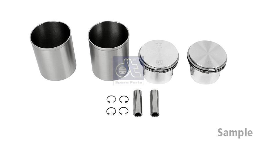 Piston and liner kit, compressor