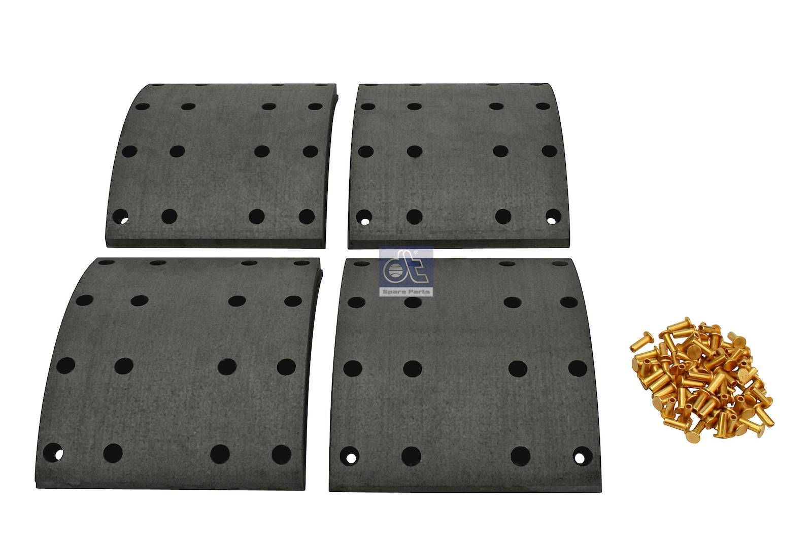 Drum brake lining kit, axle kit - oversize