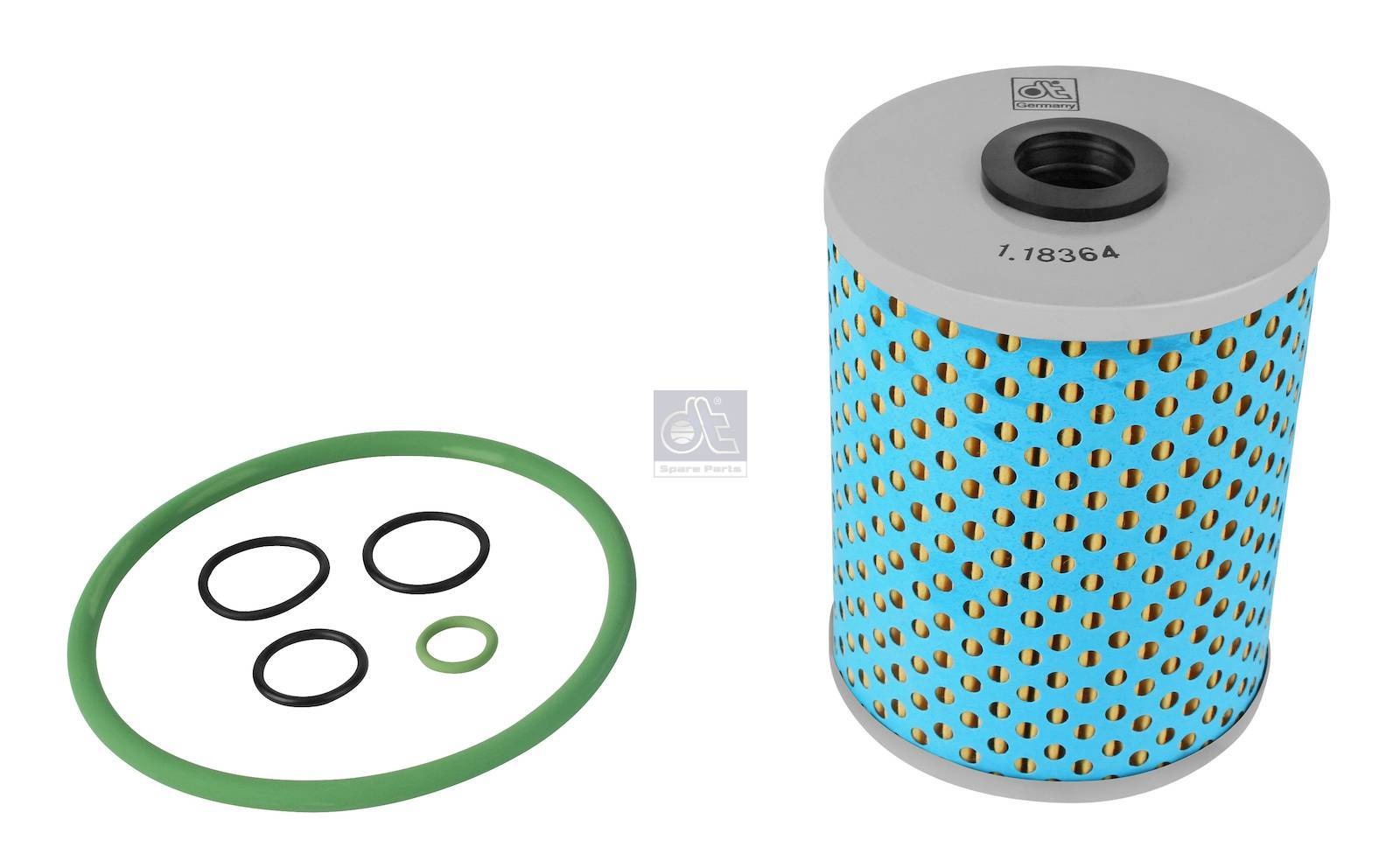 Oil filter, retarder, with seal rings