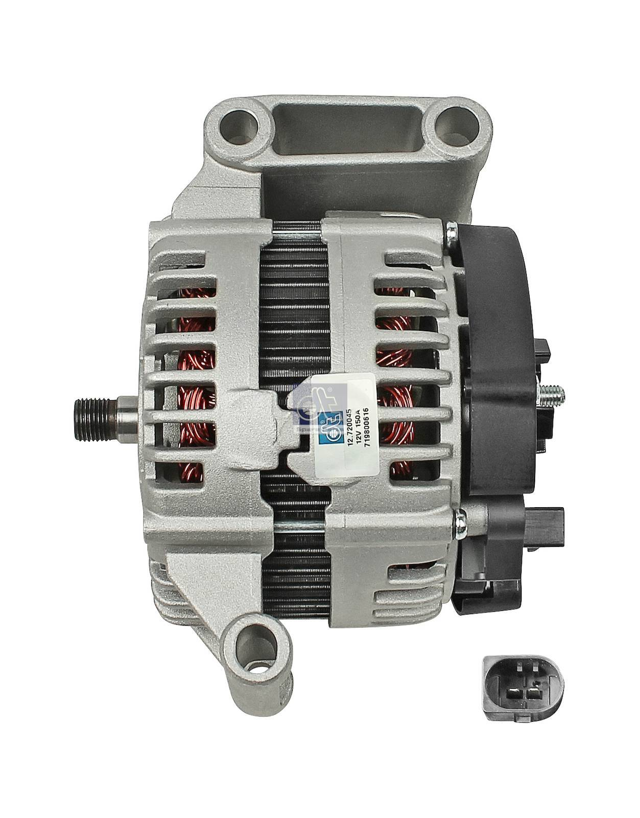 Alternator, without pulley
