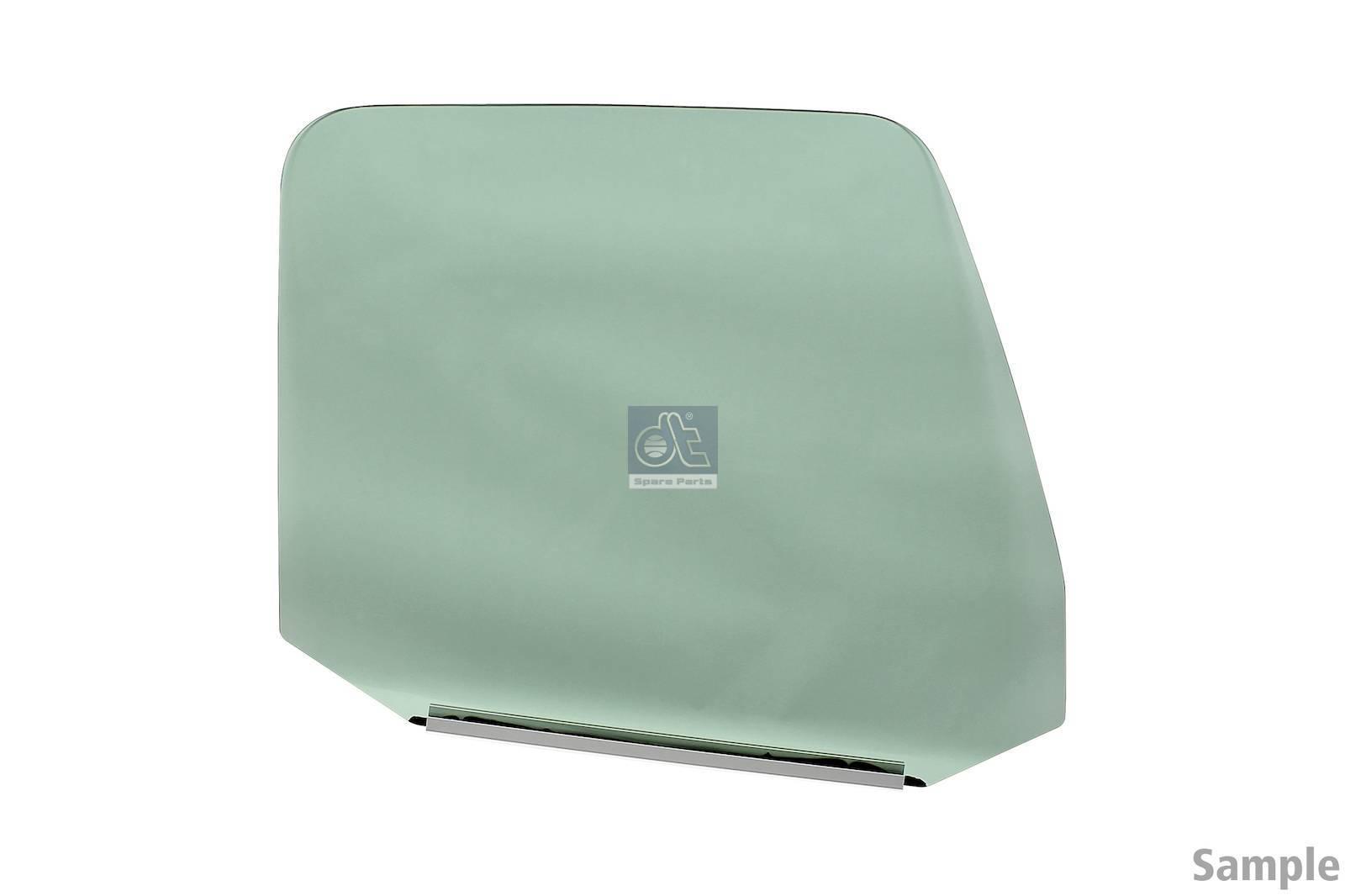 Vetro porta, des., tinto verde, singolo pacchetto