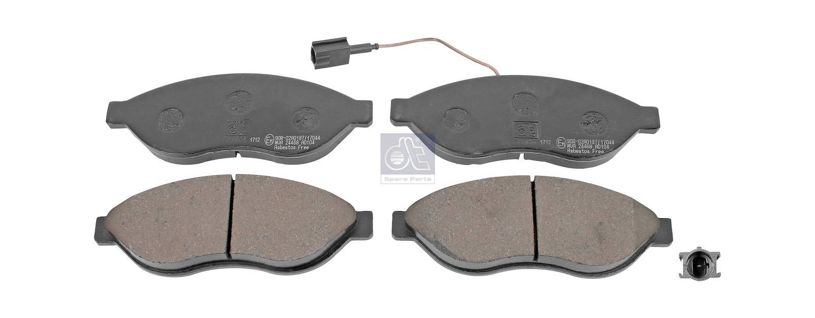 Disc brake pad kit, without accessories