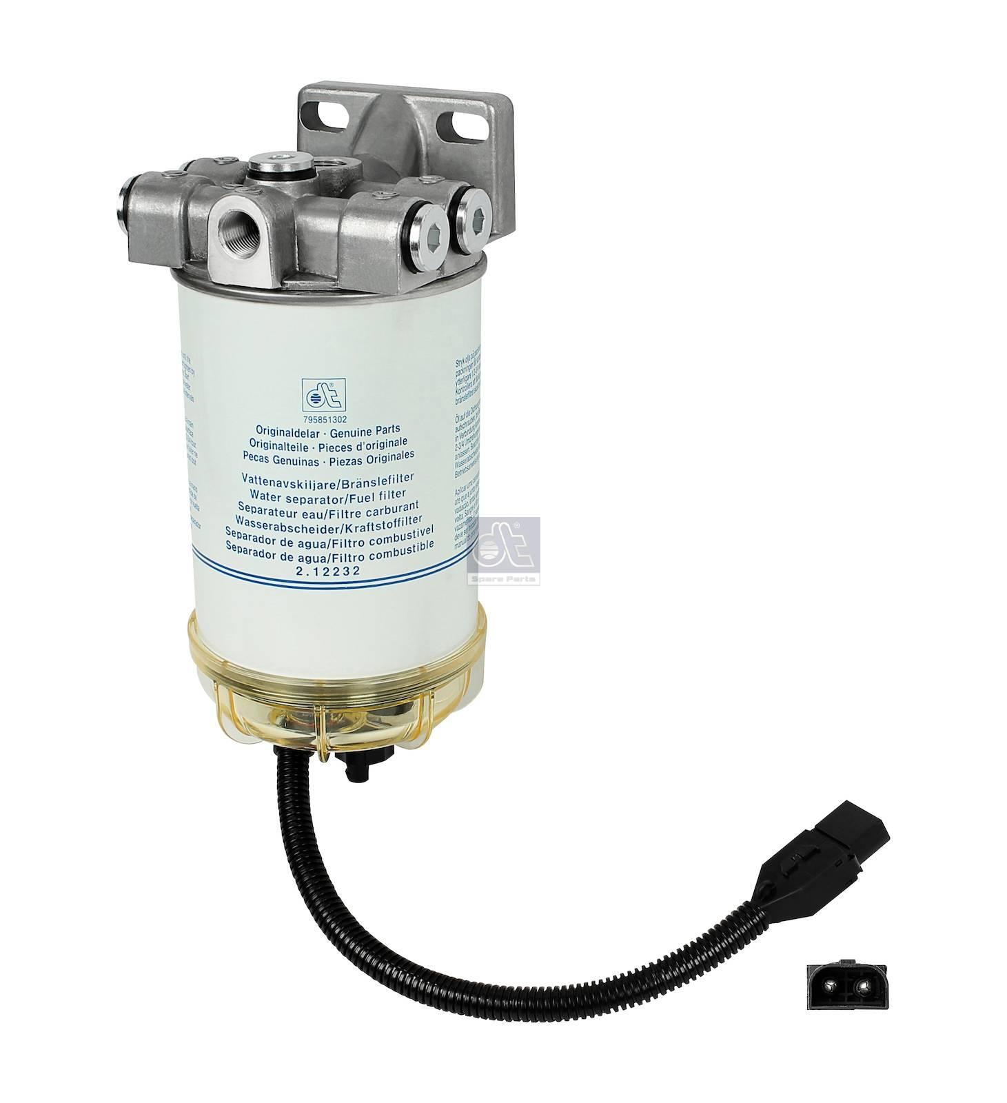 fuel filter, water separator, complete - fuel preheater