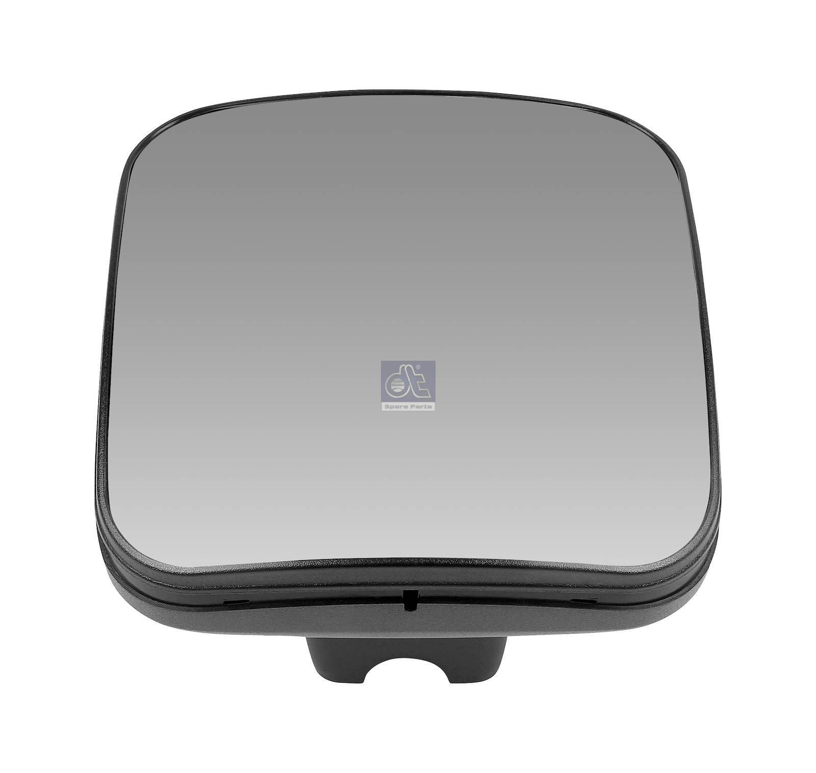 Wide view mirror, heated