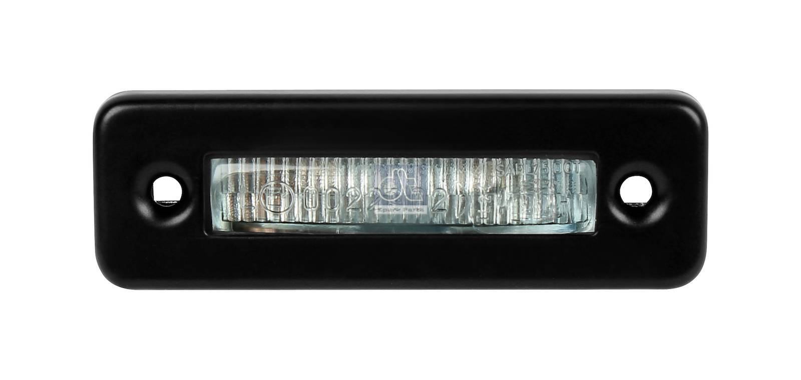 License plate lamp, with bulb
