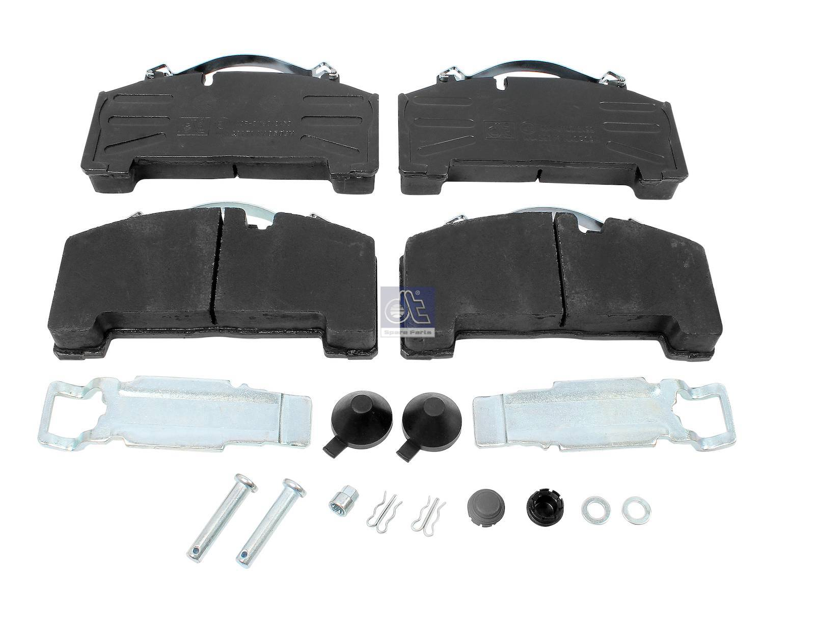 Disc brake pad kit, with accessory kit