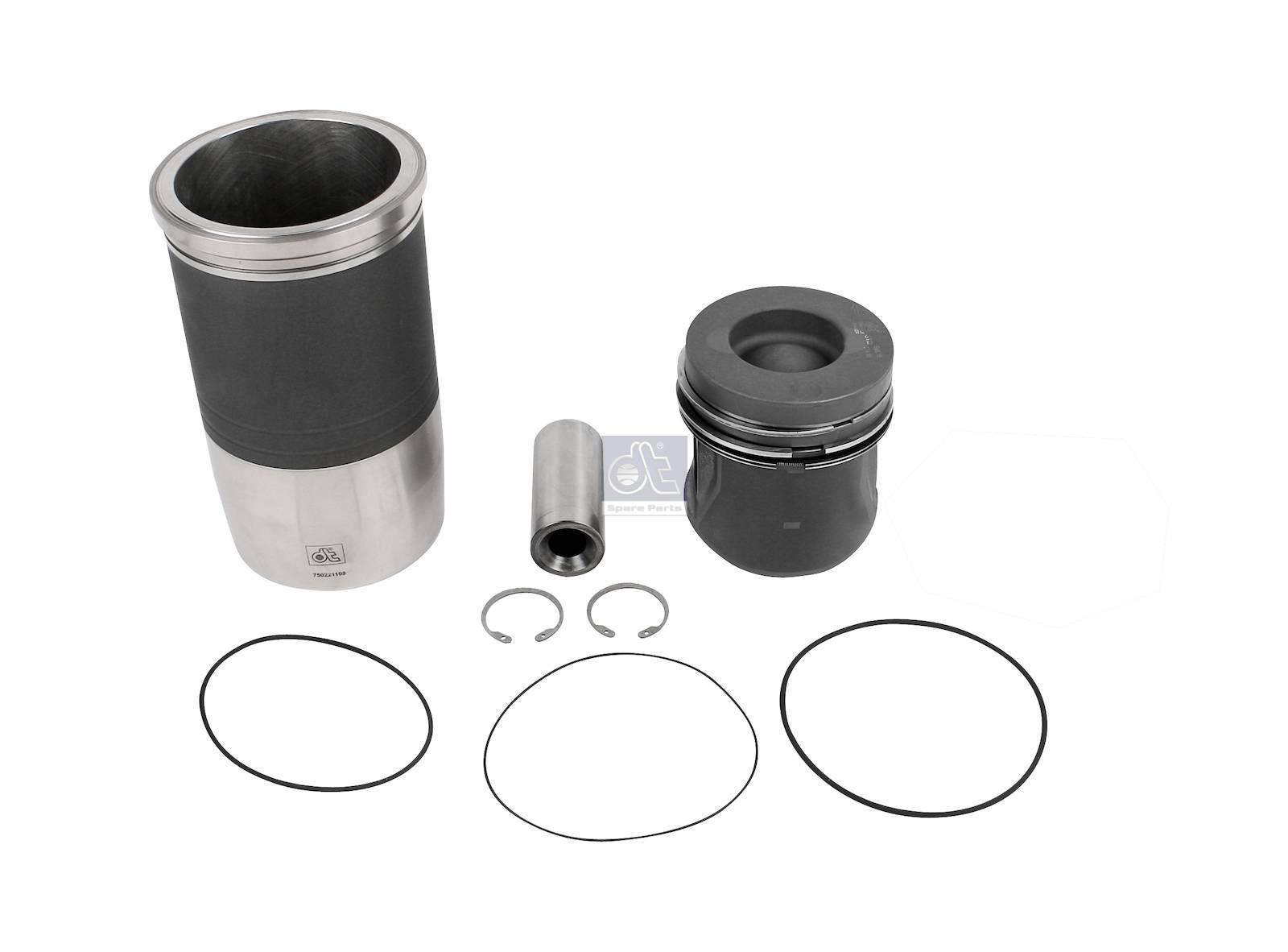 Piston with liner