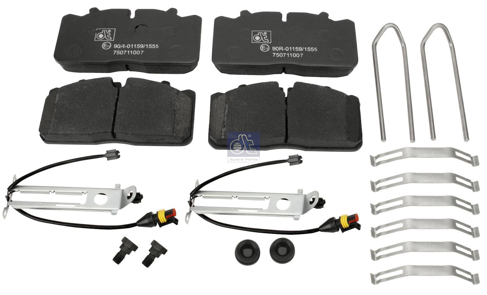Disc brake pad kit, with wear indicators